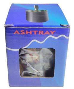 Cinzeiro De Alumínio Com Tampa Giratória Estampado - Ashtray