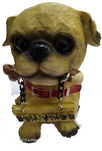 Cachorro enfeite com placa bem vindo 9cm varios modelos