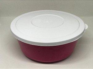 Pote de Plástico Colorido com tampa branca