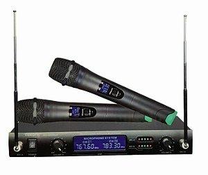 Microfone WVNGR WG-4000 Duplo sem fio Top Digital com LCD Profissional