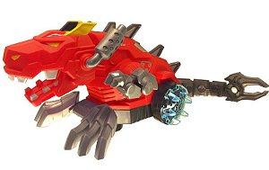 Dragão Robô realista solta fumaça com Led Fungame