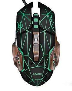 Mouse Gamer Durawell até 3200dpis 6 botões Macro Óptico com Led Dw200