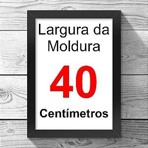 16255c5bc Cor Preta - Selecione a largura. Moldura Lisa Preta - 40cm de Largura