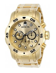 Relógio Invicta 0074 Pro Diver Dourado Fundo Dourado - Original