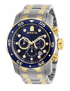 Relógio Invicta 0077 Pro Diver Misto Fundo Azul - Original