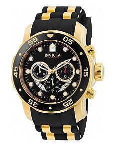 Relógio Invicta 6981 Pro Diver Preto Pulseira de Borracha Preta - Original