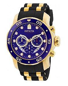 Relógio Invicta 6983 Pro Diver azul Pulseira de Borracha Preta - Original