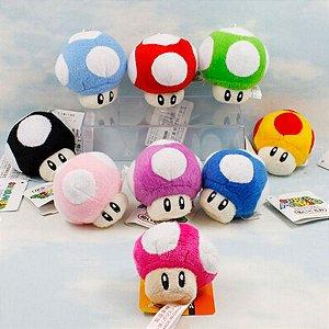 Chaveiro de Pelúcia Cogumelo - Super Mario Bros