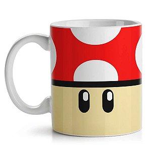Caneca Cogumelo Vermelho - Super Mario