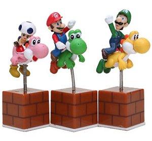 Montarias Super Mario - Bonecos Autoadesivos Com Mola