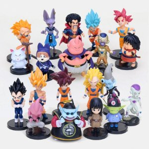 Kit 20 Action Figures DRAGON BALL Escala 1:18