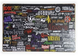 Placa de Metal Bandas