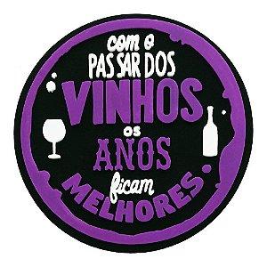 Porta-Copo de Borracha Com O Passar dos Vinhos