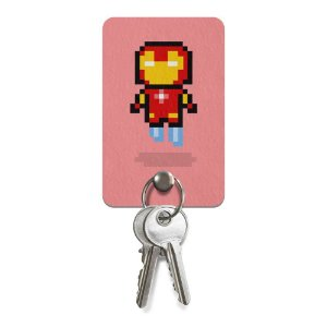 Porta-Chaves Pixel Iron Man
