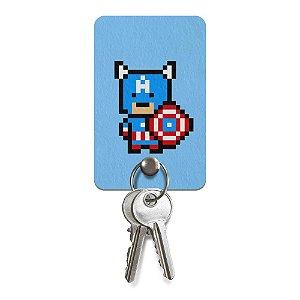 Porta-Chaves Pixel Capitão América