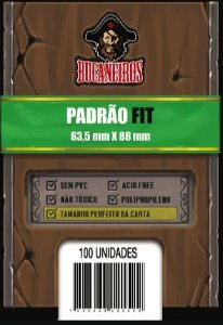 Sleeve Ultra Fit / Perfect Size para Magic e Pokémon (63,5 x 88 mm) Bucaneiros