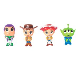 Kit 4 Agarradinhos Woody, Buzz, Jessie e Space Alien - Toy Story