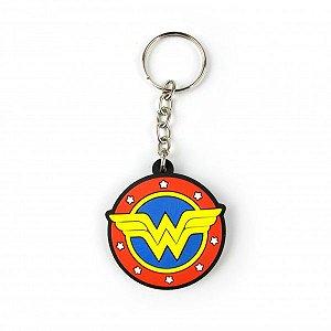 Chaveiro Escudo Mulher Maravilha DC Comics