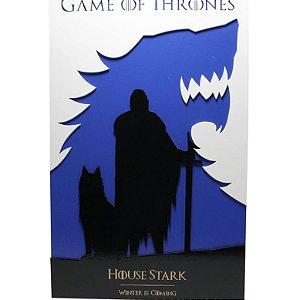 Quadro em Relevo Casa Stark - Game of Thrones