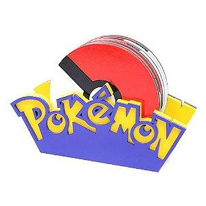 Porta-Copos Conjunto 6 Peças Pokébola - Pokémon