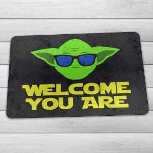 Capacho Ecológico Welcome You Are Mestre Yoda - Star Wars