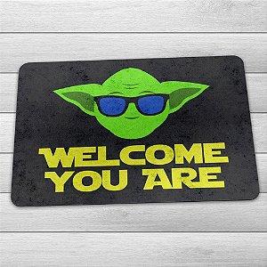 Capacho Ecológico Welcome You Are Mestre Yoda - Star Wars