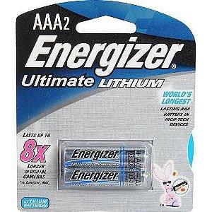 Par de Pilhas Palito Energizer Lithium AAA