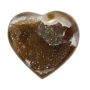 Coração Ágata Cappucino