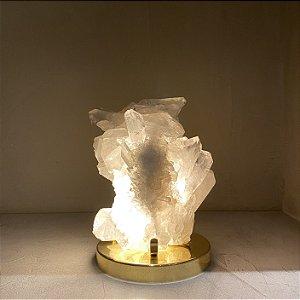 Luminária Drusa Cristal