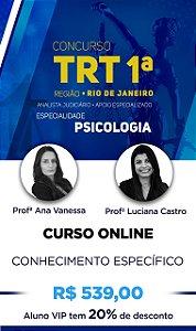 CURSO ONLINE TRT 1ª REGIÃO - ESPECÍFICO PSICOLOGIA