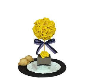 Topiária Rosa Amarela Festa Aniversário