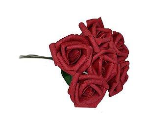 12 Rosas Vermelhas Artificiais