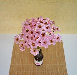 75 Flores de Tecido Para Decorar Garrafas