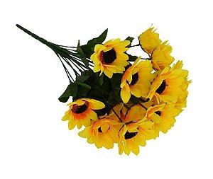 Buquê de Girassol Artificial C/ 18 Flores