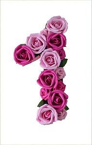 Número Pink e Rosa Mesversário