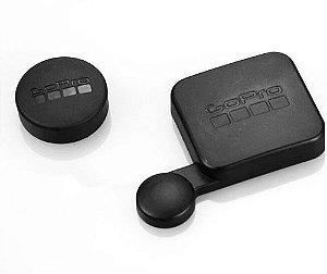 Tampas Proteção para lente de caixa estanque e lente Gopro HERO3, HERO3+, HERO4 Silver e HERO4 Black