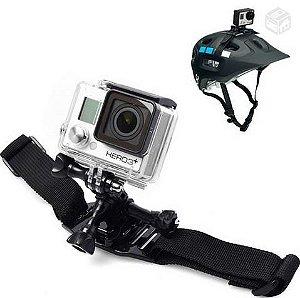 Suporte Ajustável Para Capacetes Ventilados, Compatível com Câmeras Gopro, SJCam e Similares