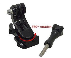 Fivela de Encaixe Rápido Tipo J ou J-Hook 360 Graus Compatível com Gopro, SJCam, Sony e Similares