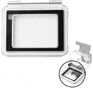 Tampa TouchScreen Compatível com Caixas Estanque Padrão Das Câmeras Gopro HERO4 Silver