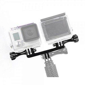 Suporte Duplo Em Plástico Para Câmeras e Acessórios para Gopro, SJCam, Sony e Similares