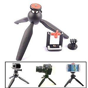 Mini Tripé de Mesa Yunteng Com Adaptador ParaCelulares e Para Câmeras GoPro, SJCam e Similares