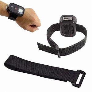 Fita ou Strap em Nylon Com Velcro para Controles Remotos Padrão GoPro ou Similares