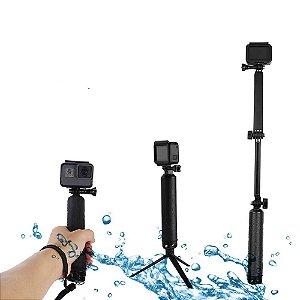 Bastão Flutuante Dobrável 3Way ou 3 Formas Similar Telesin Para Gopro, SJCam, Sony e Câmeras Similares - 1ª Linha