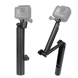 Bastão 3 Fases Shoot Compatível com Câmeras GoPro, SJCam, Sony e outras câmeras de ação similares