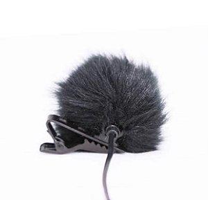 Proteção contra ruídos tipo DeadCat para Microfones de Lapela