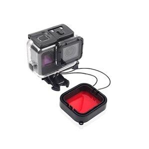 Filtro para mergulho na cor VERMELHA para caixas estanque ORIGINAIS ou SIMILARES Padrão SuperSuit.