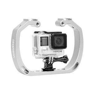 Suporte Estabilizador Selens em Alumínio para Mergulho Compatível com Câmeras GoPro, DJi Osmo Action, SJCam e similares.