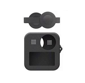 Capa em Silicone Com Proteção de Lentes para Câmeras GoPro MAX 360