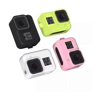 Capa em Silicone com Cordão para Pulso Compatível com Câmera GoPro HERO8 Black