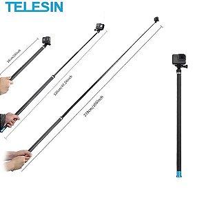 Bastão de Selfie Telesin 2,7m em Fibra de Carbono e Alumínio para GoPro, DJi Osmo Action e similares
